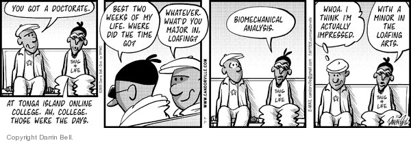 Comic Strip Darrin Bell  Candorville 2009-05-21 college education