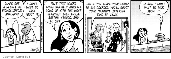 Comic Strip Darrin Bell  Candorville 2009-05-22 golf swing
