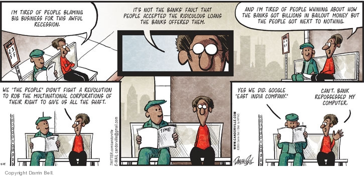 Comic Strip Darrin Bell  Candorville 2009-05-24 United States government