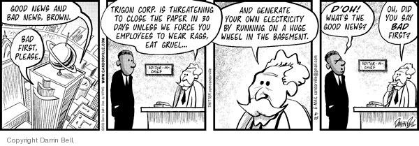 Comic Strip Darrin Bell  Candorville 2009-05-25 eat