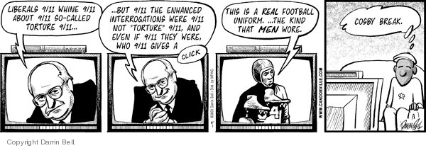 Cartoonist Darrin Bell  Candorville 2009-06-01 Dick Cheney