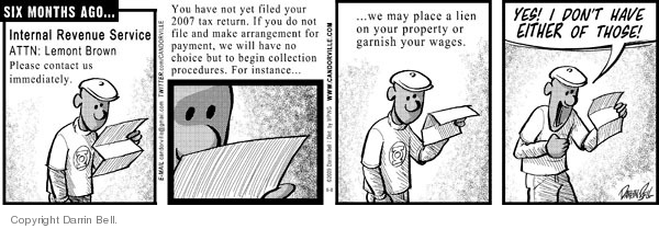 Comic Strip Darrin Bell  Candorville 2009-06-08 tax
