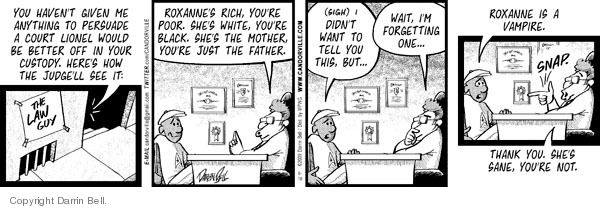 Comic Strip Darrin Bell  Candorville 2009-06-10 law firm