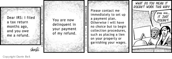Comic Strip Darrin Bell  Candorville 2009-06-13 procedure