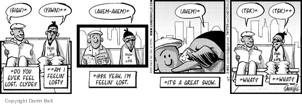 Comic Strip Darrin Bell  Candorville 2009-06-15 language