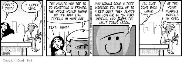 Cartoonist Darrin Bell  Candorville 2009-06-16 car light