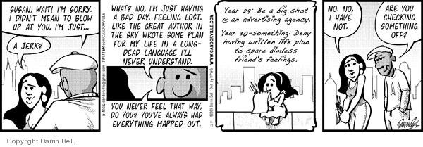 Comic Strip Darrin Bell  Candorville 2009-06-17 bad feeling