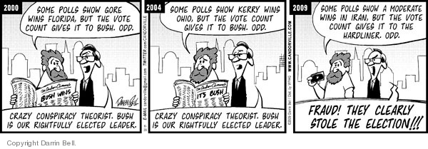 Comic Strip Darrin Bell  Candorville 2009-06-29 2009 Iranian election