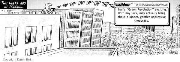 Cartoonist Darrin Bell  Candorville 2009-07-03 correspondent