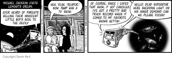 Comic Strip Darrin Bell  Candorville 2009-07-08 superstar