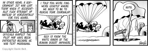 Comic Strip Darrin Bell  Candorville 2009-07-22 jet