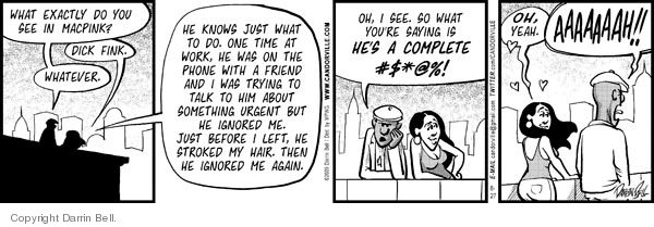Cartoonist Darrin Bell  Candorville 2009-08-27 gesture