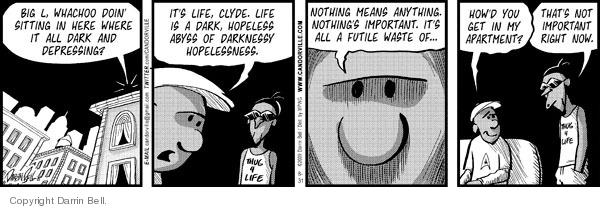 Comic Strip Darrin Bell  Candorville 2009-08-31 abyss