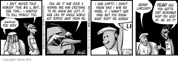 Comic Strip Darrin Bell  Candorville 2009-09-04 suicide
