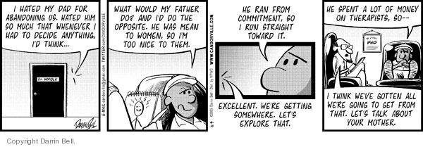 Cartoonist Darrin Bell  Candorville 2009-09-10 fathers and sons
