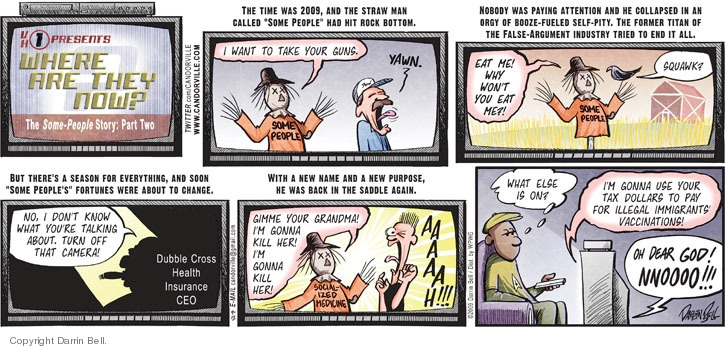 Comic Strip Darrin Bell  Candorville 2009-09-13 insurance payment