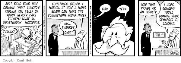 Cartoonist Darrin Bell  Candorville 2009-09-16 read