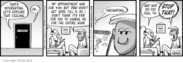Comic Strip Darrin Bell  Candorville 2009-09-17 doctor appointment