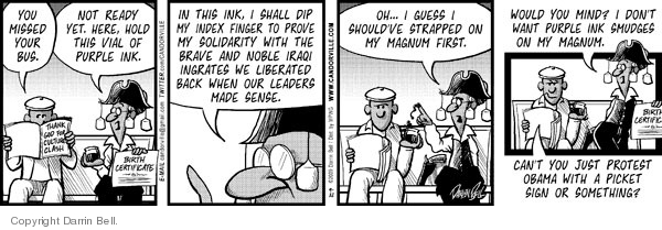 Comic Strip Darrin Bell  Candorville 2009-09-22 finger