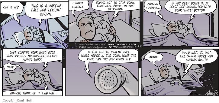 Comic Strip Darrin Bell  Candorville 2009-10-11 caller ID