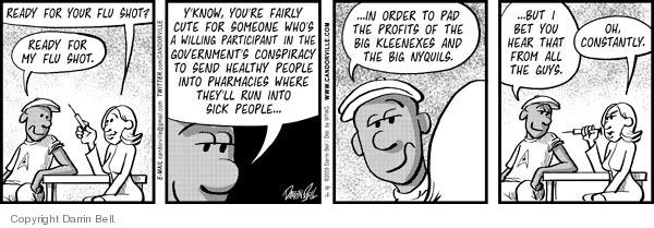 Comic Strip Darrin Bell  Candorville 2009-10-12 get sick