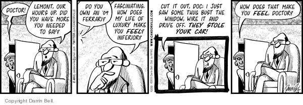 Cartoonist Darrin Bell  Candorville 2009-10-20 doctor