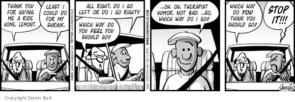 Comic Strip Darrin Bell  Candorville 2009-10-21 bad feeling