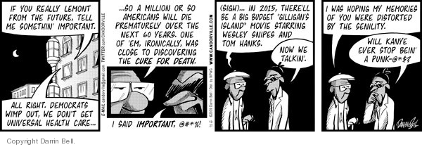 Comic Strip Darrin Bell  Candorville 2009-10-27 Death Star