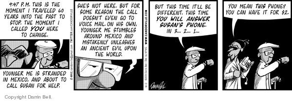 Comic Strip Darrin Bell  Candorville 2009-10-28 call