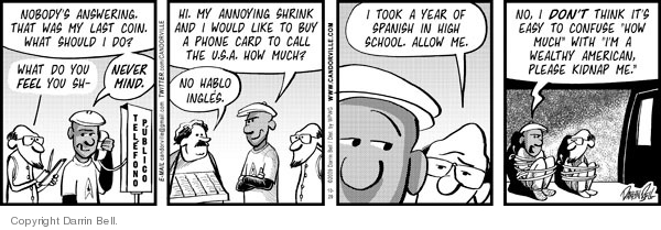 Comic Strip Darrin Bell  Candorville 2009-10-29 high school