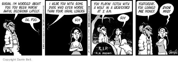 Comic Strip Darrin Bell  Candorville 2009-11-03 wolf