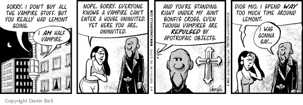 Comic Strip Darrin Bell  Candorville 2009-11-06 under the influence