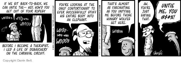 Comic Strip Darrin Bell  Candorville 2009-11-10 elephant