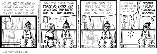 Comic Strip Darrin Bell  Candorville 2009-11-16 affection