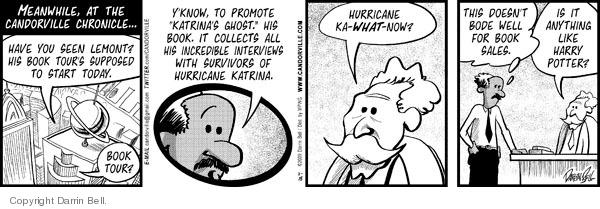Comic Strip Darrin Bell  Candorville 2009-11-18 Katrina