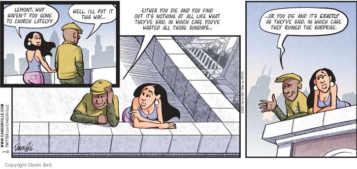 Comic Strip Darrin Bell  Candorville 2009-11-22 afterlife