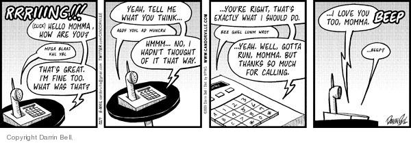 Comic Strip Darrin Bell  Candorville 2009-11-23 phone