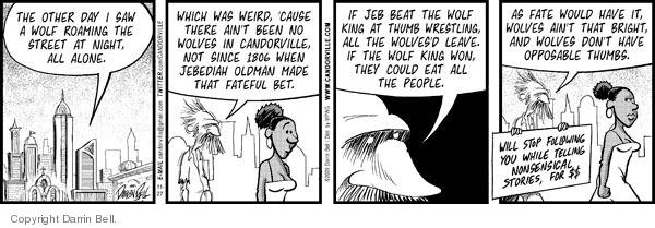 Comic Strip Darrin Bell  Candorville 2009-11-27 eat