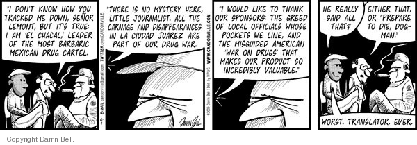 Comic Strip Darrin Bell  Candorville 2009-12-01 disappearance
