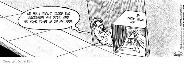 Cartoonist Darrin Bell  Candorville 2009-12-05 recession