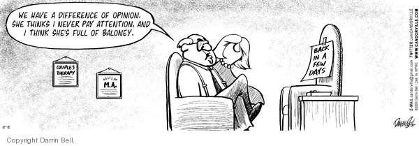 Comic Strip Darrin Bell  Candorville 2009-12-12 couples therapy