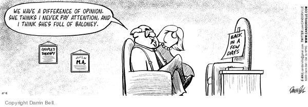 Comic Strip Darrin Bell  Candorville 2009-12-12 psychologist