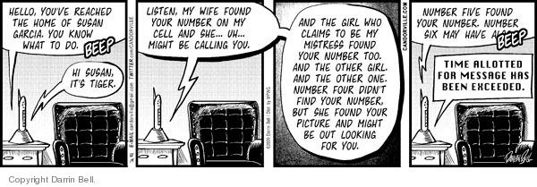 Comic Strip Darrin Bell  Candorville 2009-12-14 phone