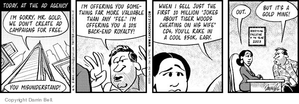 Comic Strip Darrin Bell  Candorville 2009-12-16 advertising campaign
