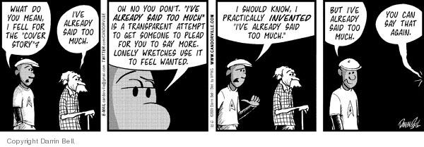 Cartoonist Darrin Bell  Candorville 2009-12-22 disclose