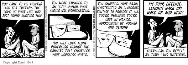 Cartoonist Darrin Bell  Candorville 2009-12-30 doctor