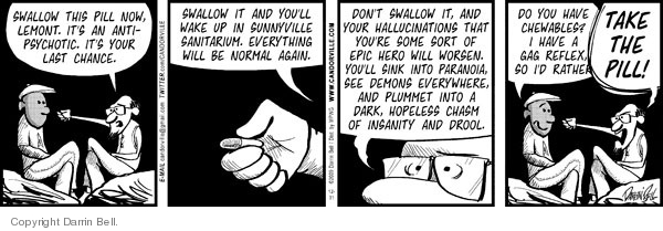 Comic Strip Darrin Bell  Candorville 2009-12-31 hallucination