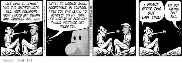 Comic Strip Darrin Bell  Candorville 2010-01-02 hallucination