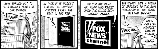 Comic Strip Darrin Bell  Candorville 2010-01-05 Fox News