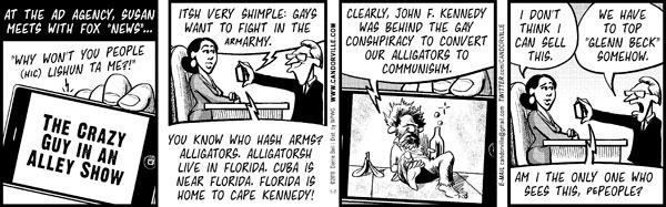 Cartoonist Darrin Bell  Candorville 2010-01-07 John
